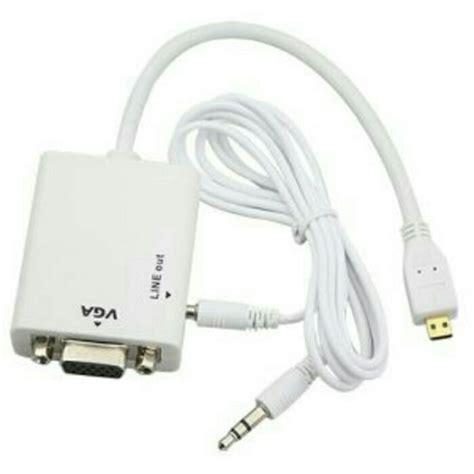 Kabel Hdmi Micro To Vga kabel converter micro hdmi to vga with audio elevenia