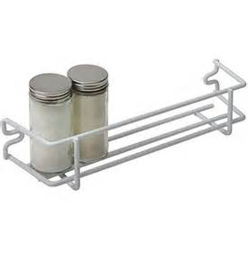 white wire single shelf mounted spice rack in spice racks