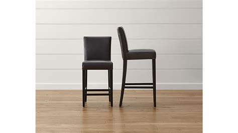 Lowes Kitchen Counter Stools by Lowe Chocolate Leather Counter Stool In Bar Stools Crate