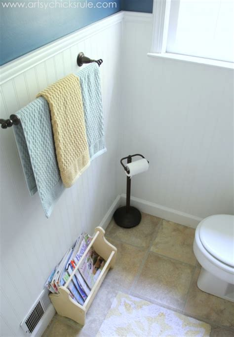 guest bath makeover on a budget before after artsy