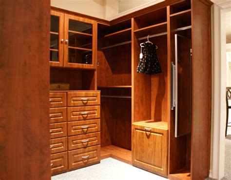 Built Out Closets by Custom Designed Walk In Closet With Built In Pull Out