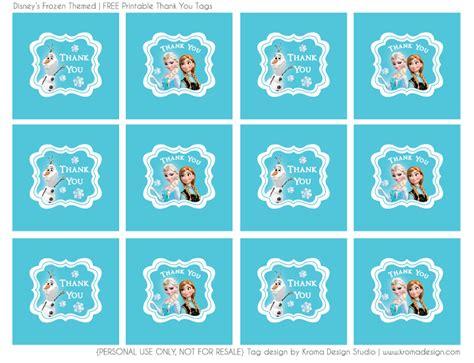 printable frozen theme frozen themed free printable thank you favor tag pdf