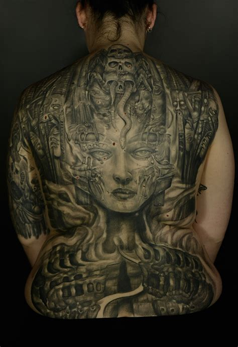 biomechanical portrait tattoo kristina lepa certified artist