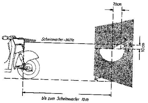 Motorrad Scheinwerfer Einstellung by Betriebsanleitung F 252 R Den Tourenrollers Troll 1 Dank
