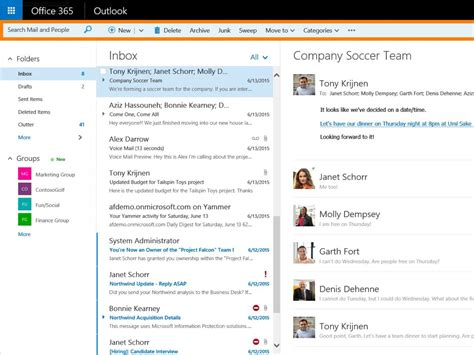 Office 365 Outlook Features Web Version Of Outlook For Office 365 Business Users Gets