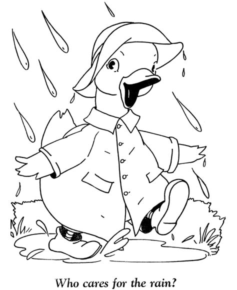 coloring page duck with umbrella baby ducks coloring pages pictures