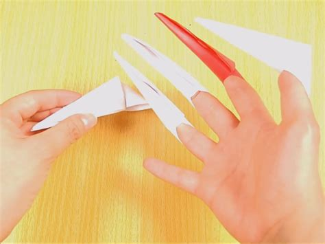 Origami Claws - how to make origami paper claws 10 steps with pictures