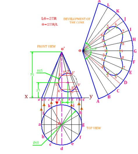 technical drawing pattern development problem 8 1 development of surfaces of solids