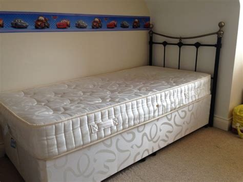 Divan Bed With Drawers by Single Divan Bed With 2 Drawers Ortho Mattress Headboard