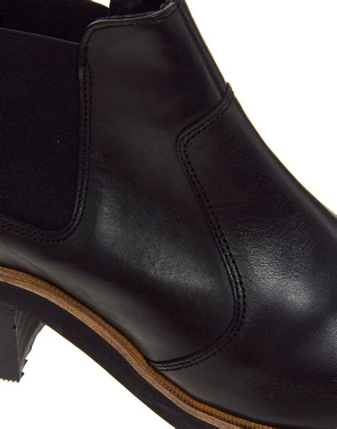 asos atmosphere leather chelsea ankle boots in black lyst