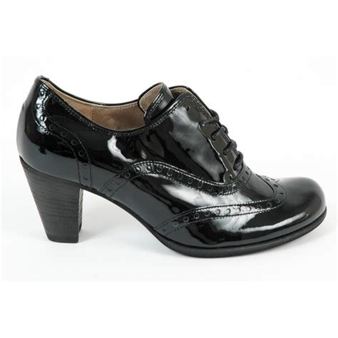 gabor girona s shoe in black patent