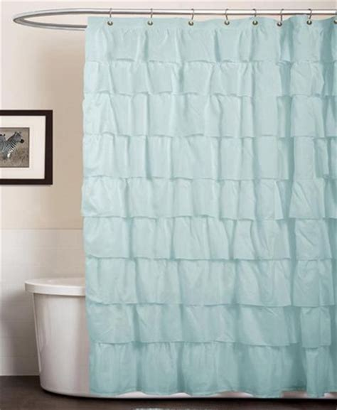 turquoise ruffle curtains lush decor ruffle aqua blue shower curtain everything