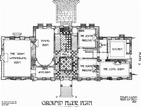 great house floor plans the great house leyton plate 3 ground floor plan british
