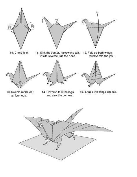 Easy Origami Dragons - how to make origami 171 how to make origami