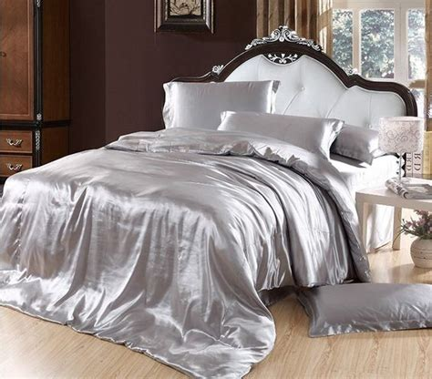 elegant comforter elegant bedding solid color silk smooth bedding set