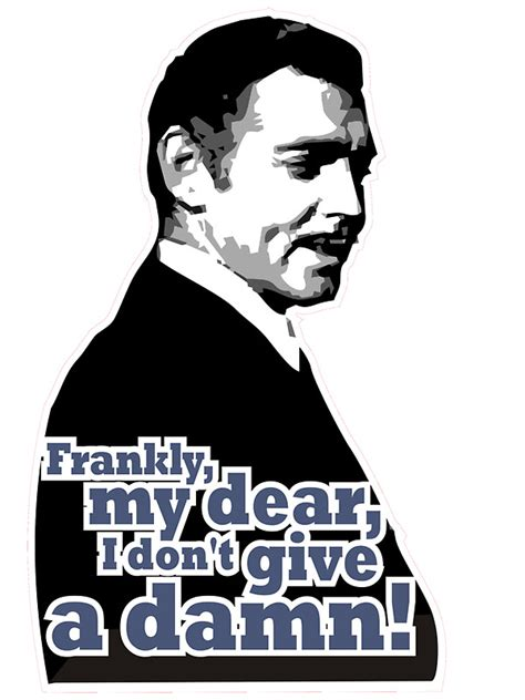 Stickers For Walls quot frankly my dear i don t give a damn quot stickers by max
