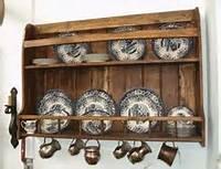 Platero De Madera Maciza Rustico Mueble 150 Ancho