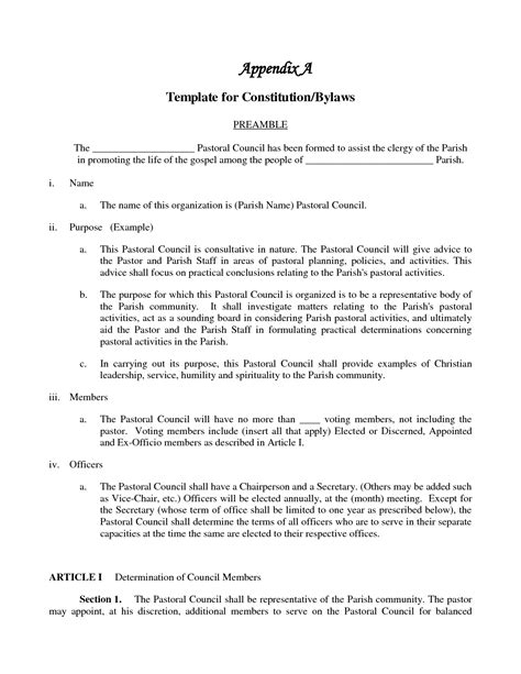 Amendment To Bylaws Incorporation Bylaws Template
