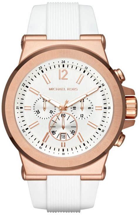 s michael kors white silicone chronograph