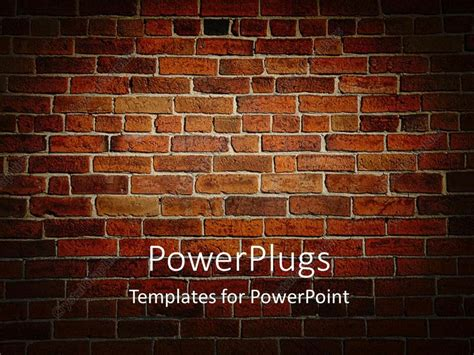 powerpoint template weather beaten brown and red brick