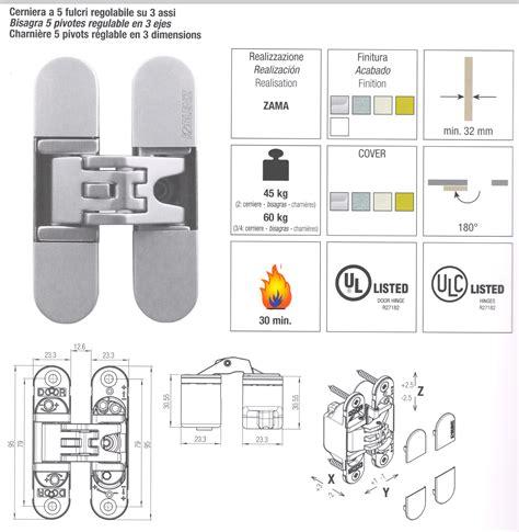 cerniere per porte a filo cerniera a scomparsa di ricambio regolabile per rasomuro