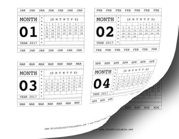printable calendar 2017 horizontal printable 2017 horizontal scrapbook calendar cards