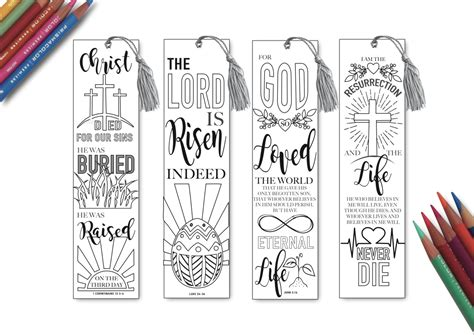 printable easter bookmarks to colour easter coloring in bible bookmarks bible journaling