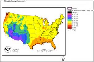 Humidity Map Usa by United States Yearly Annual And Monthly Mean Relative