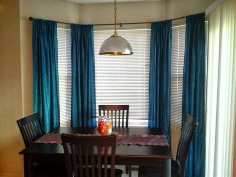 curtains with blinds ideas lovely small dining room bay window light of dining room