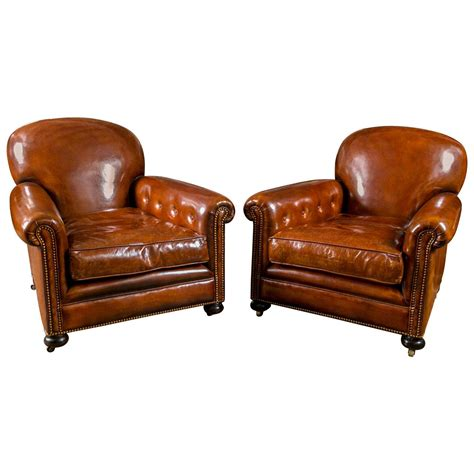 Leather Chair Sale - leather club chairs for sale at 1stdibs