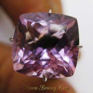 Amethys Kecubung Model Kotak batu mulia purple amethyst square cut 6 80 carat