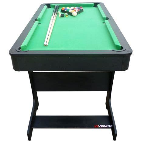 5 folding table viavito pt100x 5ft folding pool table