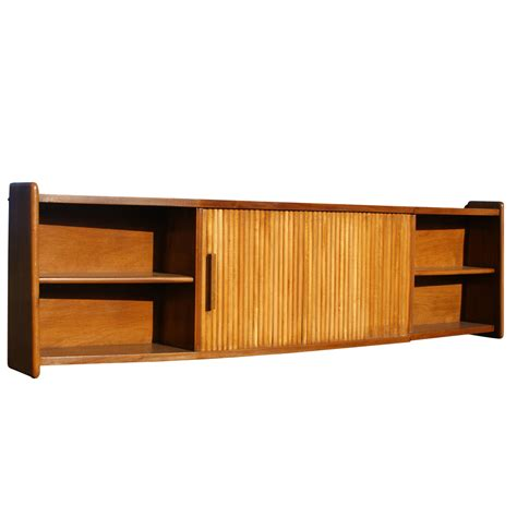 Hang Cabinet Doors with 65 Quot Vintage Wood Tambour Door Wall Hanging Cabinet Mr9848