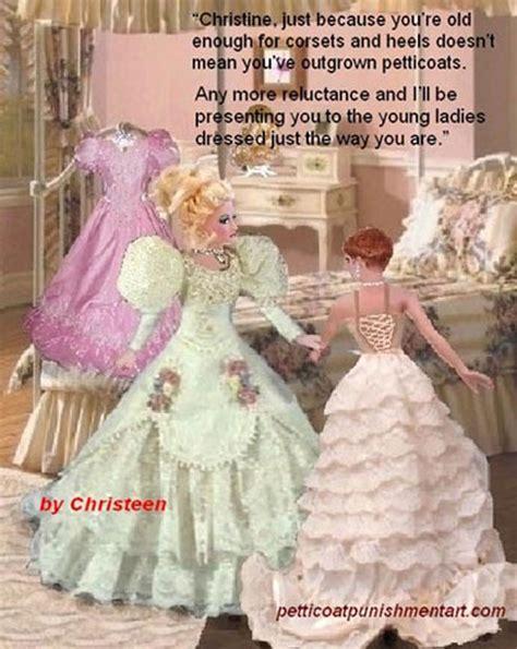 petticoat punishment dresses art chris christeen your a girl now pinterest tg