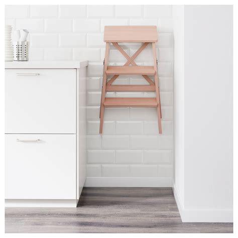 step ladder ikea bekv 196 m stepladder 3 steps beech 63 cm ikea