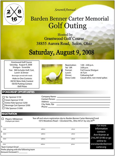 golf outing flyer template flyer template free out of darkness