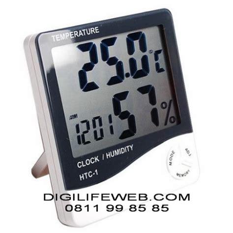 Termometer Digital Hygrometer Htc 2 Layar 3 Baris hygrometer thermometer clock