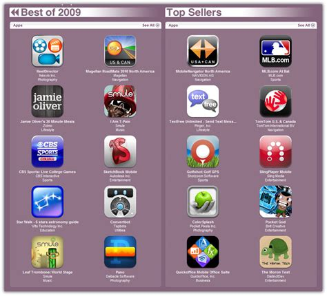best apps for iphone best iphone apps and games of 2009 in itunes store