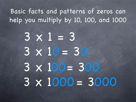 what pattern can you use to multiply a number 4 5 mental math multiplication patterns using 10 100 1000