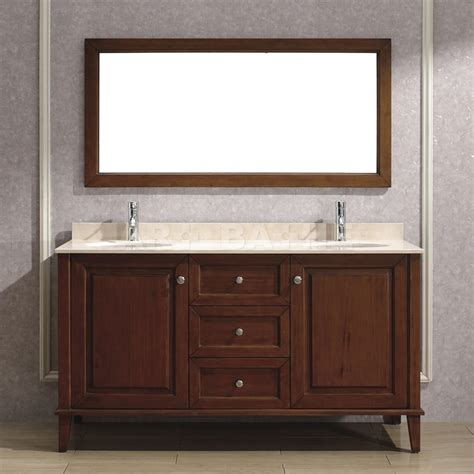 63 cherry bathroom vanity