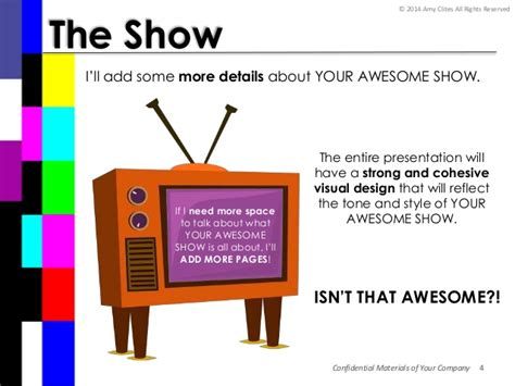 tv show powerpoint templates pitch deck for your awesome show