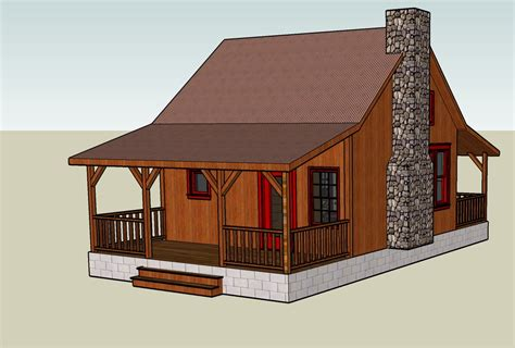 Cabin Plans And Designs by Google Sketchup 3d Tiny House Designs
