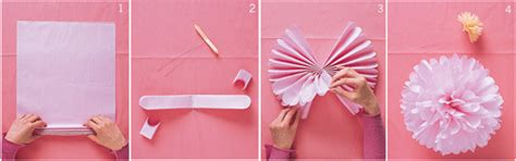 How To Make Small Paper Pom Poms - tissue paper pom poms interior design inspiration