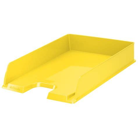 banette rangement bureau corbeille 224 courrier esselte vivida a4 jaune corbeille