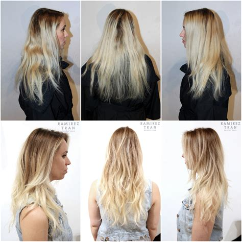 how to blend hair roots growing out blonde roots brown hair