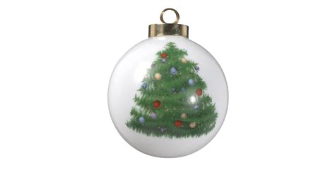 create your own christmas tree ceramic ornament zazzle