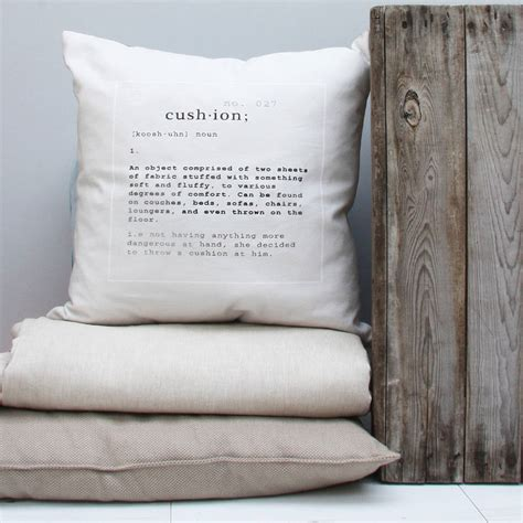 Cusion Means cushion definition cushion by notonthehighstreet