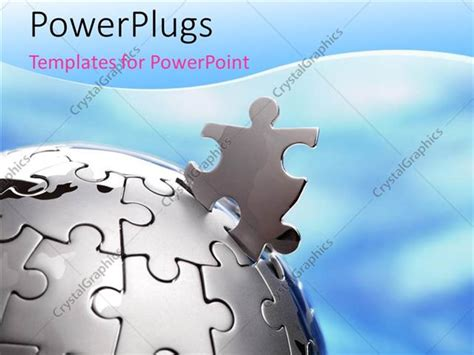 missing puzzle powerpoint template backgrounds powerpoint template missing piece of sphere shaped jigsaw