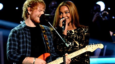 i was here beyonce testo beyonc 233 performs in love with ed sheeran