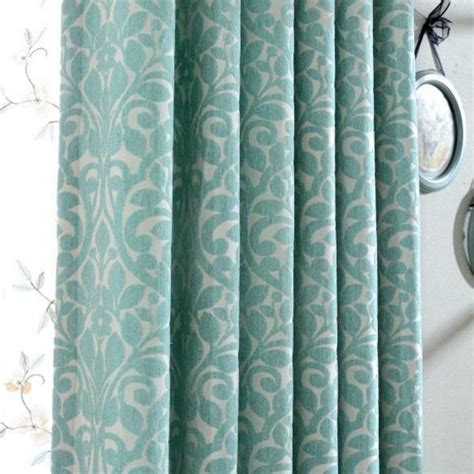 aqua velvet curtains aqua botanical patterned jacquard velvet elegant curtains